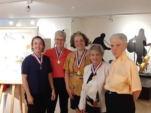 Christelle, Françoise, Sylvie, Yvonne et Jacqueline