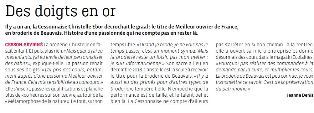 Article de Rennes Métropole en octobre 2019